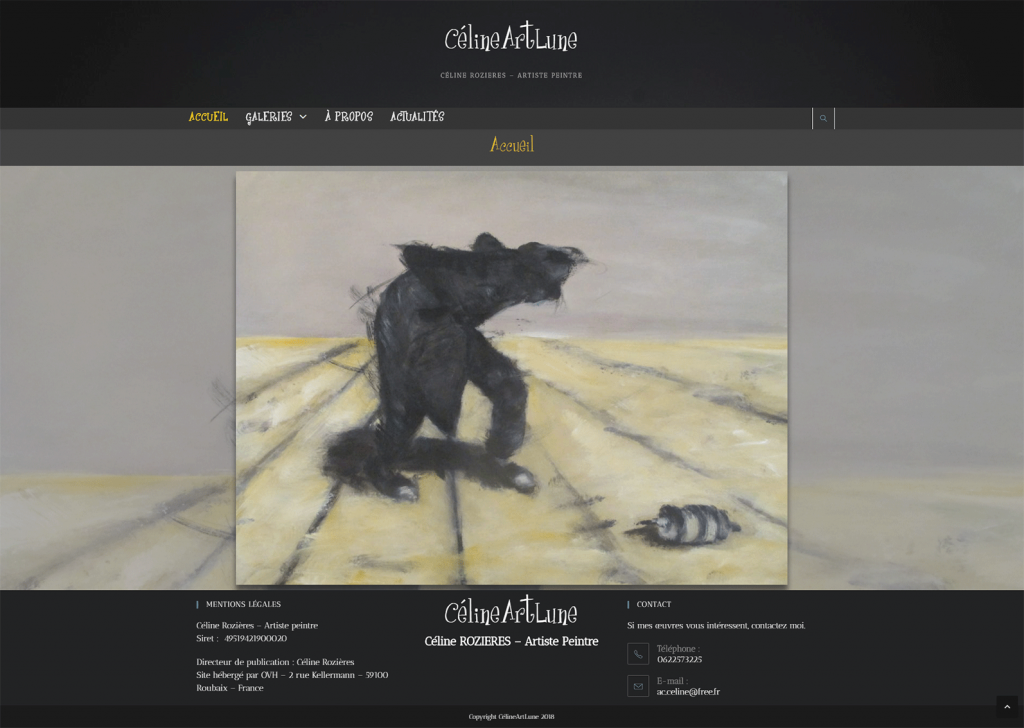 Site Wordpress CélineArtLune Artiste Peintre