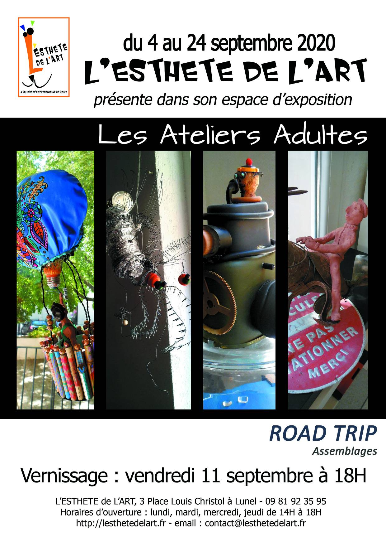 ROAD TRIP – EXPOSITION ATELIERS ADULTES